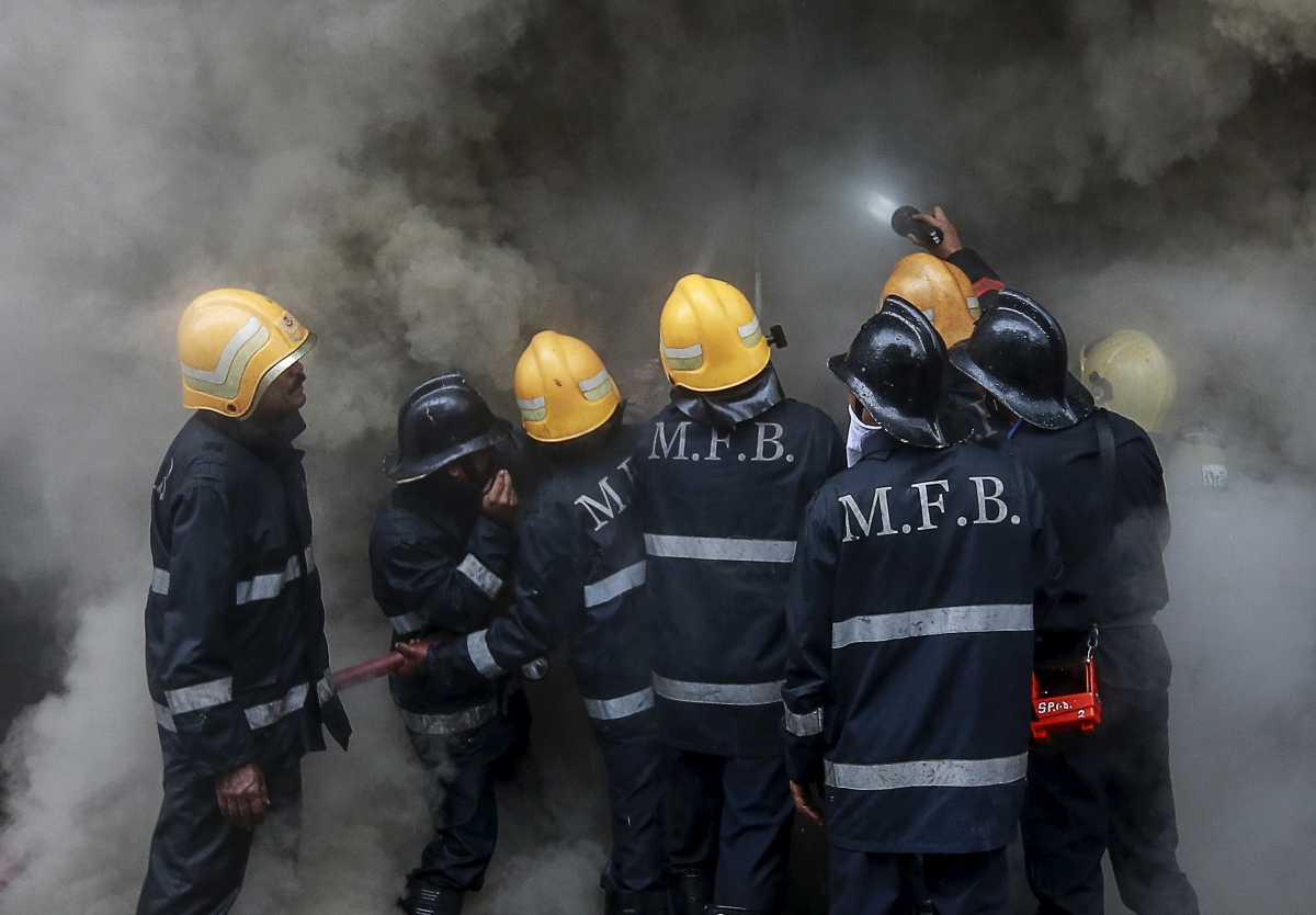 Mumbai fire-fighters