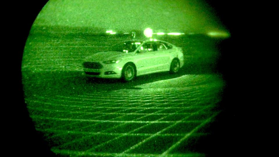 Ford autonomous night driving