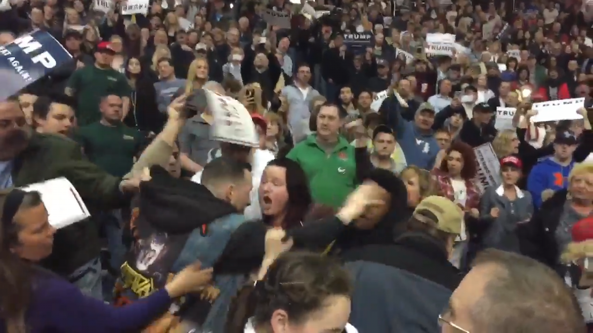 Fight at Donald Trump rally
