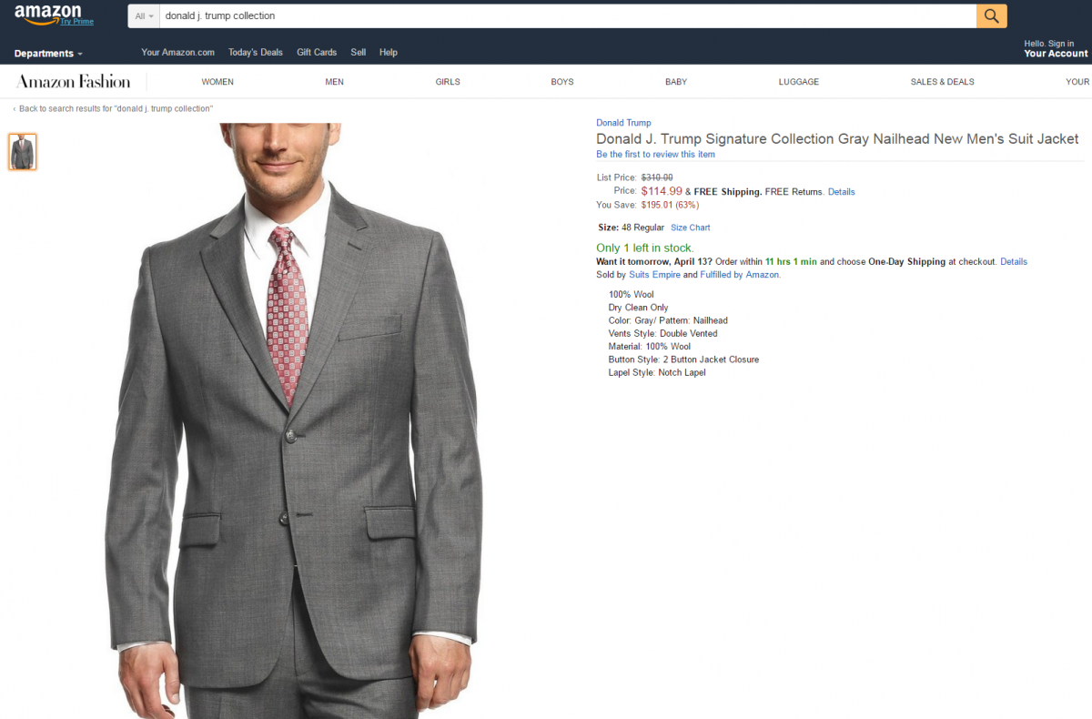 Amazon called to ban Donald Trump products