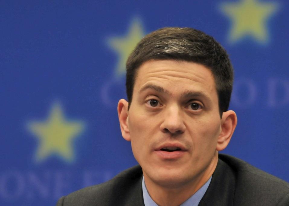David Miliband, former foreign secretary