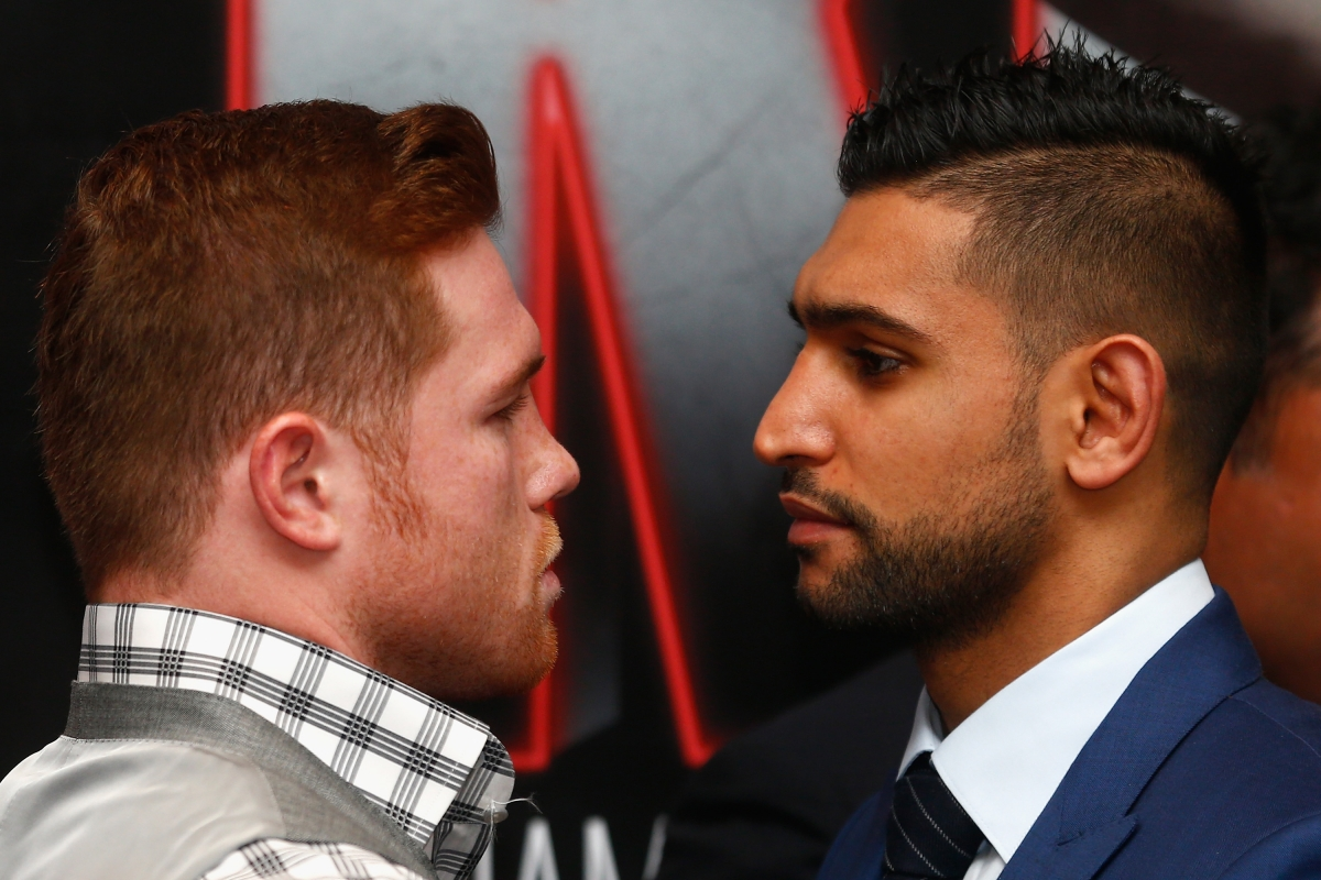 Saul Alvarez and Amir Khan come face-to-face