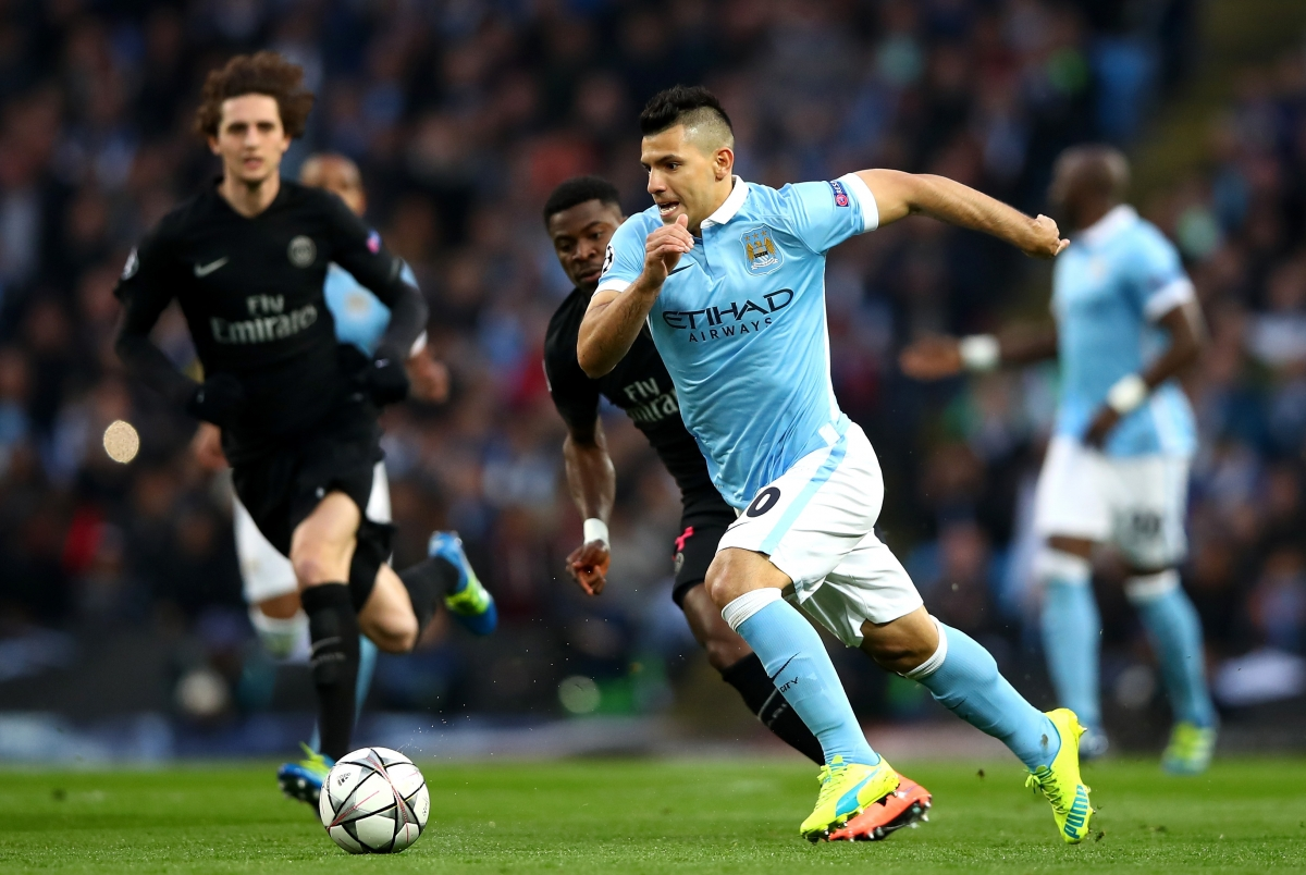 Sergio Aguero attacks for City