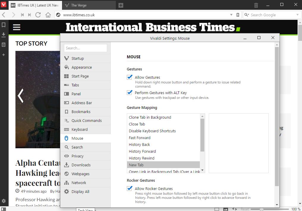 Vivaldi Browser Features 2