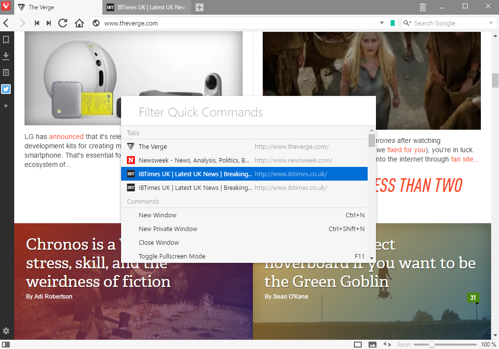 Vivaldi Browser Features 5