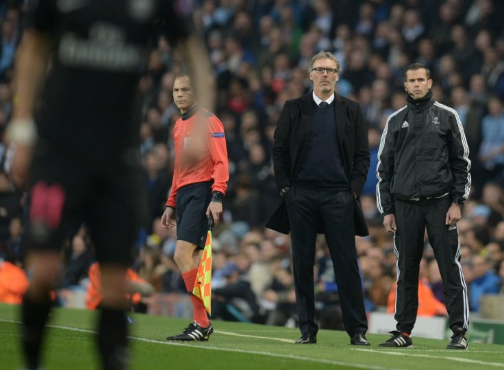 Laurent Blanc watches his team in action