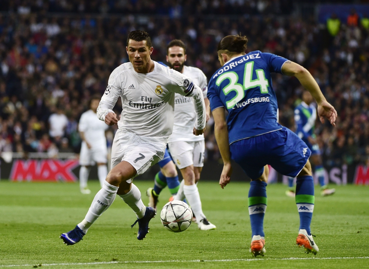 Cristiano Ronaldo against Wolfsburg