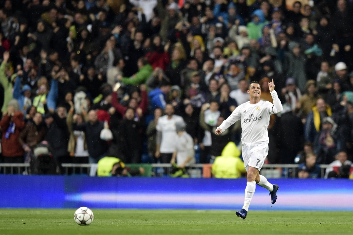Ronaldo celebrates in Madrid