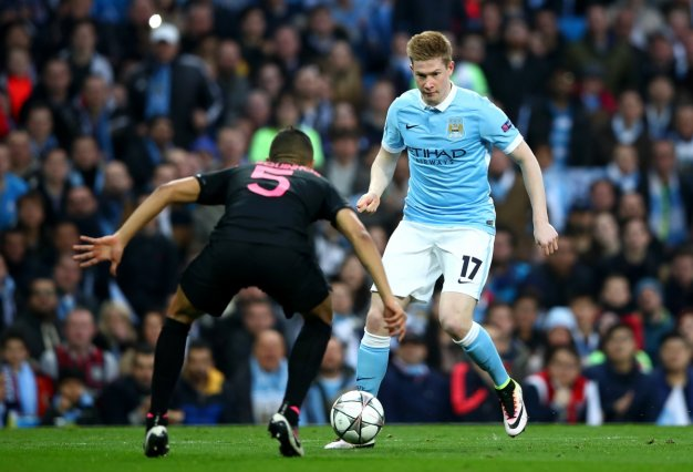 City's goal hero with the ball