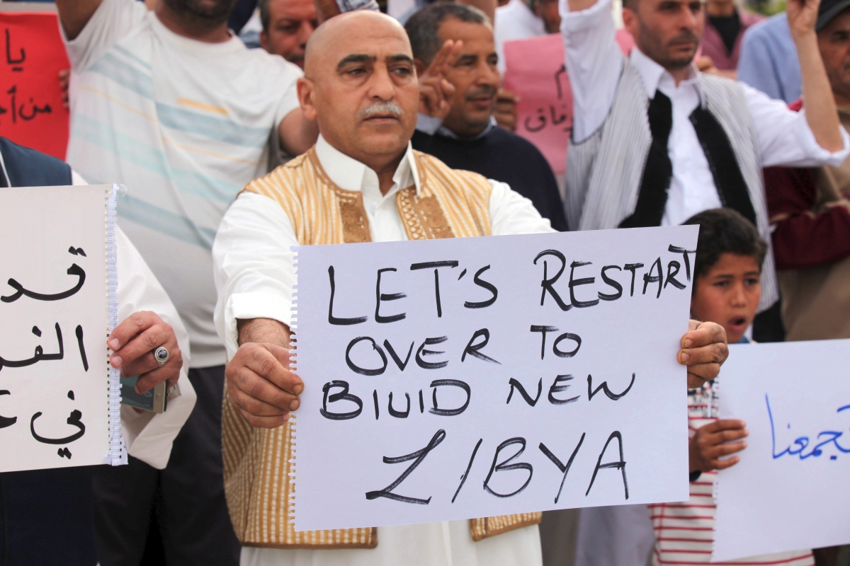 Libya unity government supporters