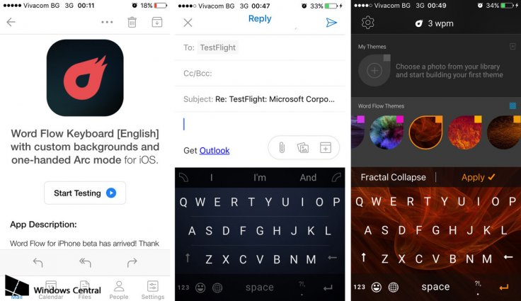 Microsoft Word Flow keyboard app for iOS leaked screenshots uncovered