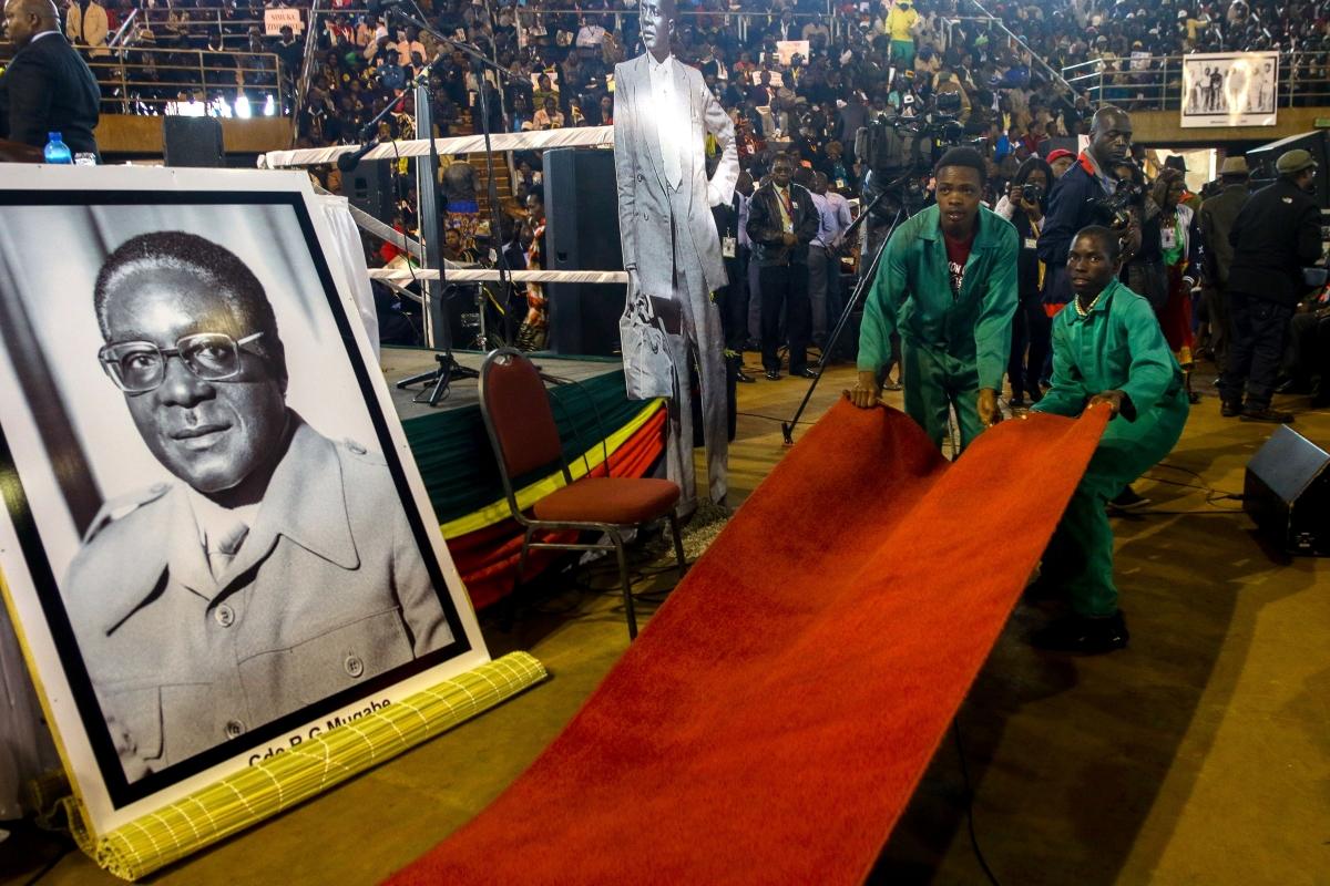 War veterans meeting with Robert Mugabe