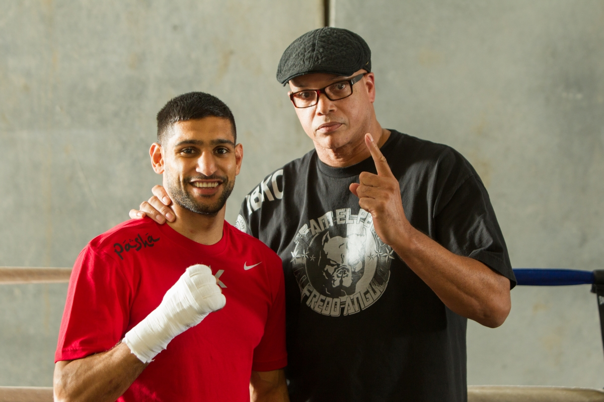 Amir Khan (left) and Virgil Hunter