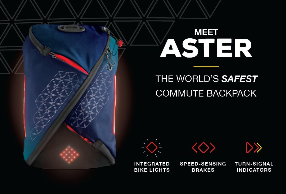 Aster Lumos Wearable Backpack Tech
