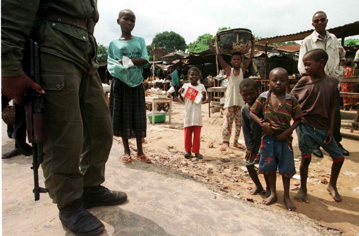 Ninja militia in Brazzaville, Congo