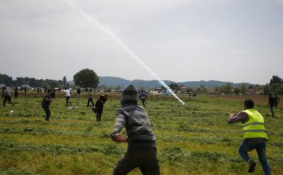 Border tear gas