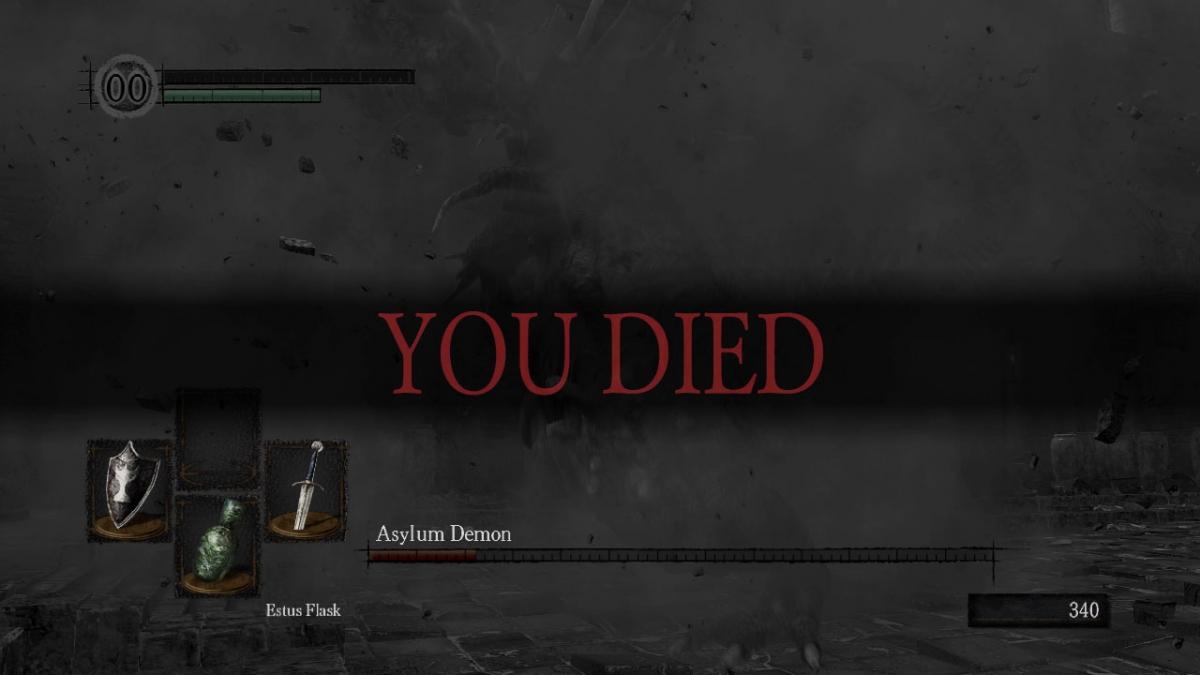 Dark Souls Original You Died