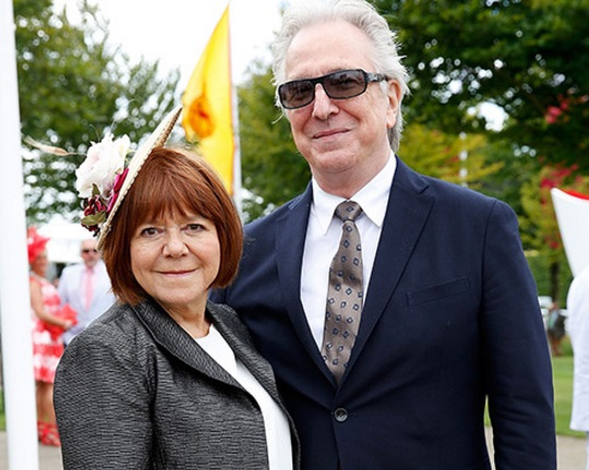 Alan Rickman and wife Rima Horton