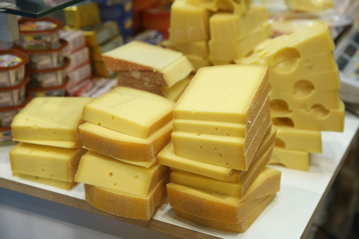 Cheese used for biogas