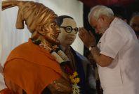 Narendra Modi pays respects to Ambedkar