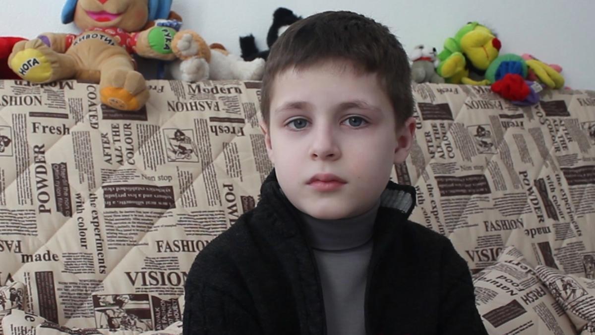 displaced children Ukraine