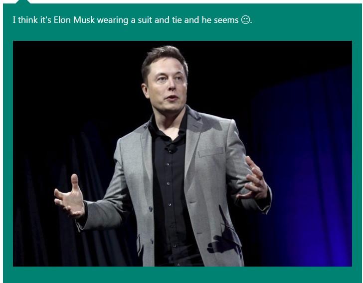 Microsoft Caption Bot Elon Musk