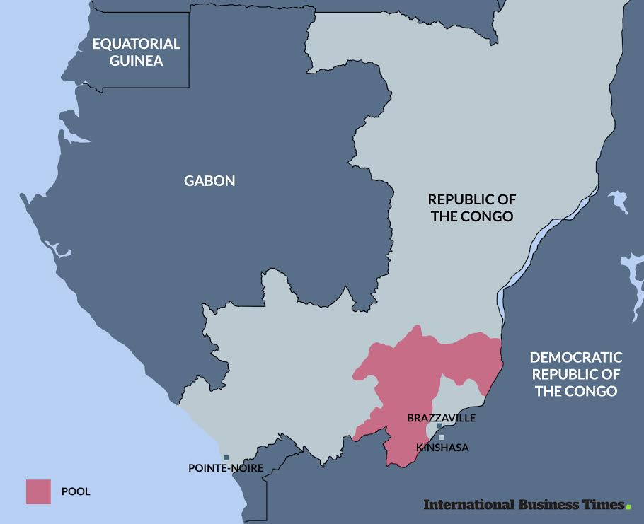 Map of Congo-Brazzaville