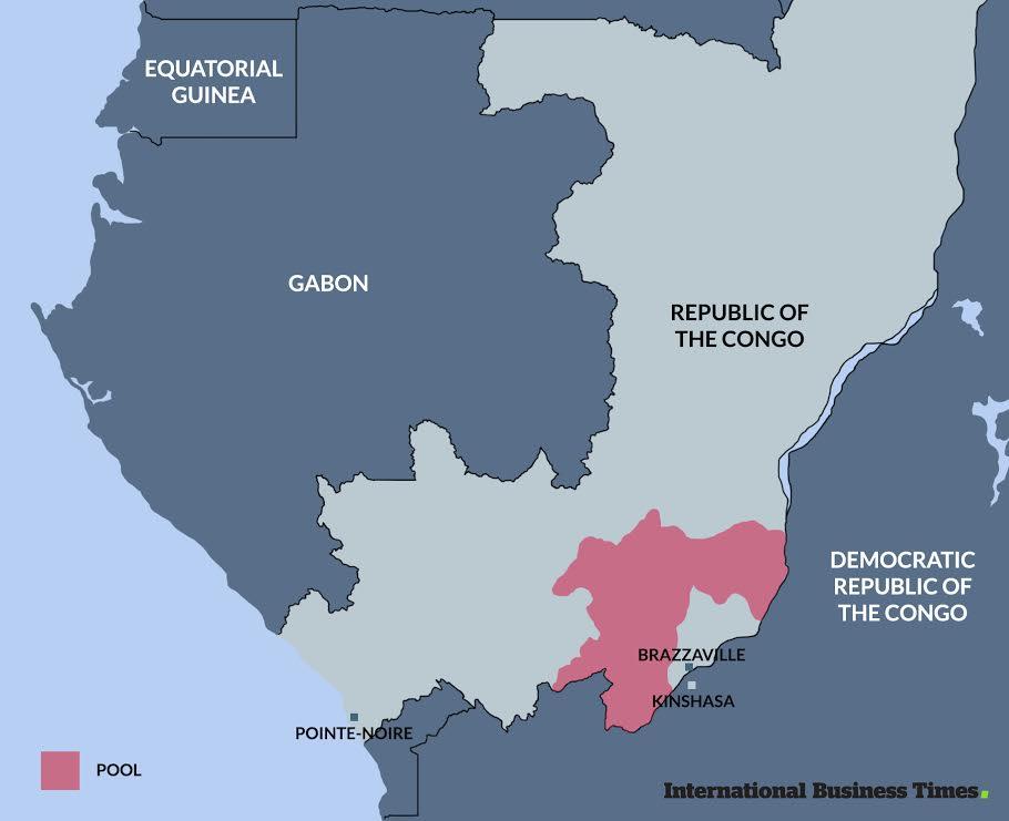 Map of Congo-Brazzaville