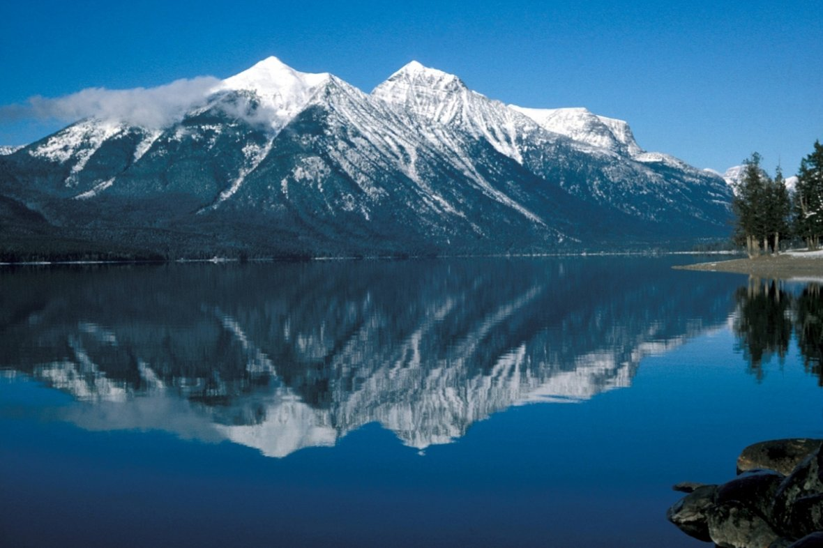View of Lake McDonald at Glacier National Park