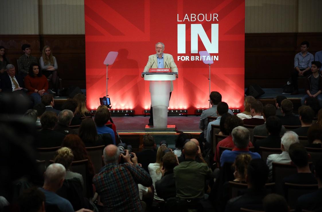 Jeremy Corbyn speaks at Senate House