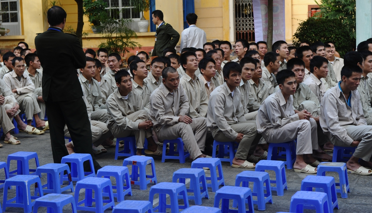 Vietnam drug addict inmates