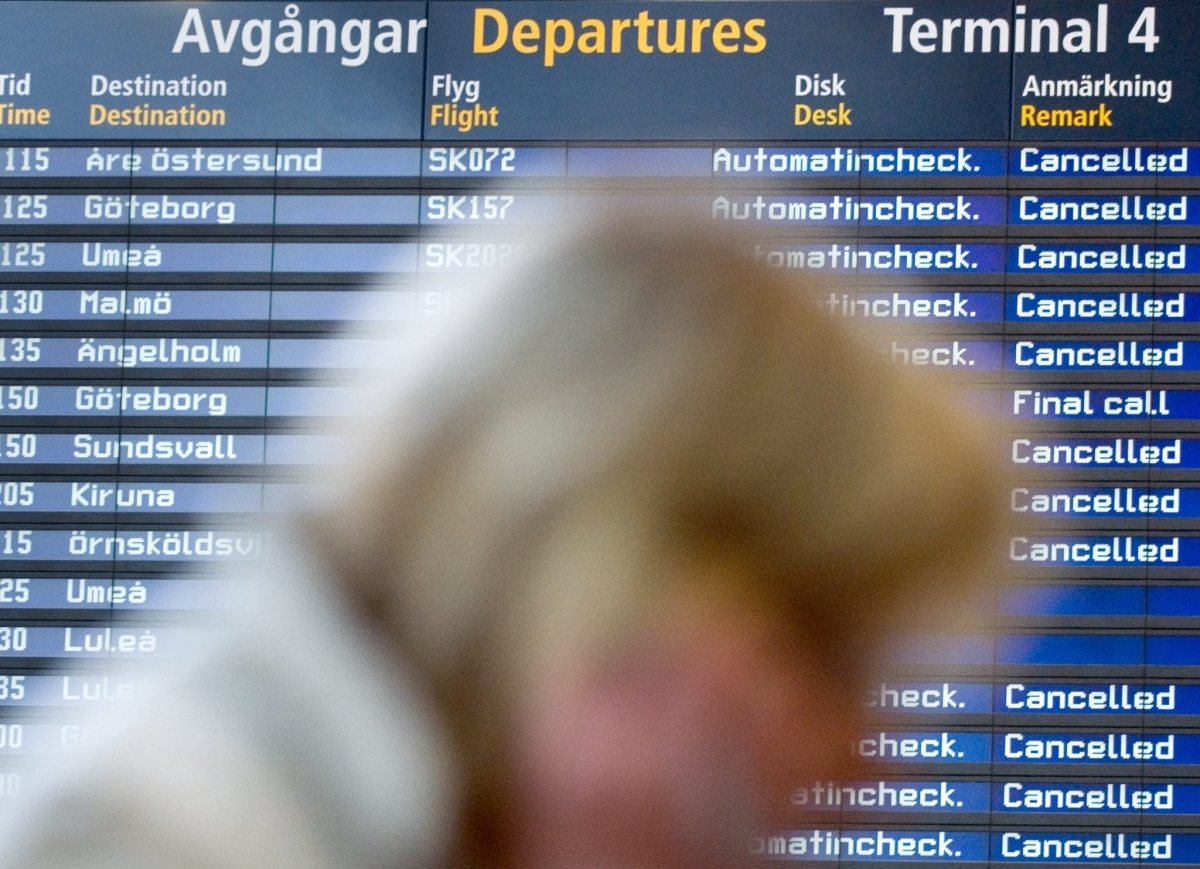 Sweden airport flights cancelled