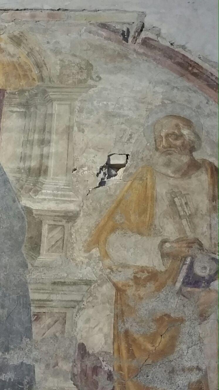 San Giovanni Maggiore Fresco damaged
