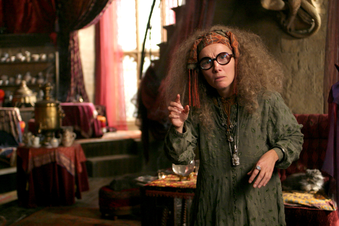 Emma Thompson as Professor Trelawney