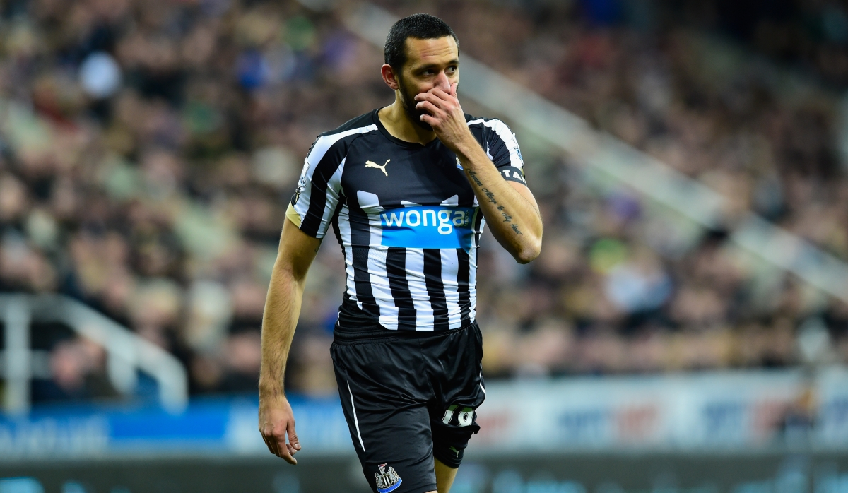 Jonas Gutierrez playing for Newcastle in 2015