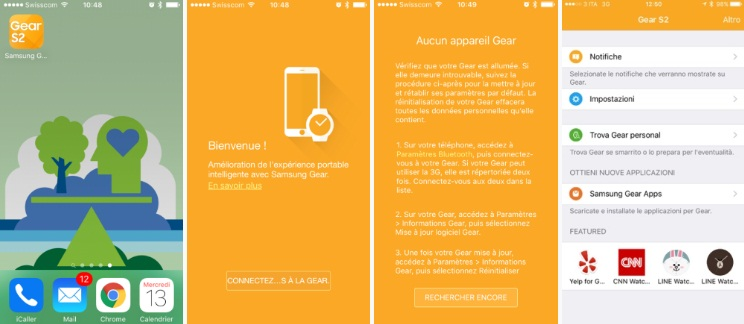 Gear S2 iOS app
