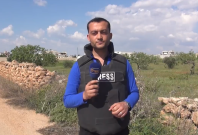 Journalist wounded by strike