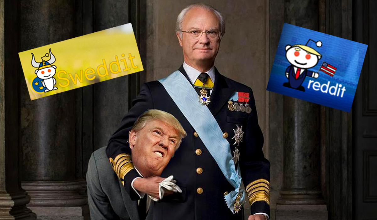 Sweden Donald Trump Reddit War