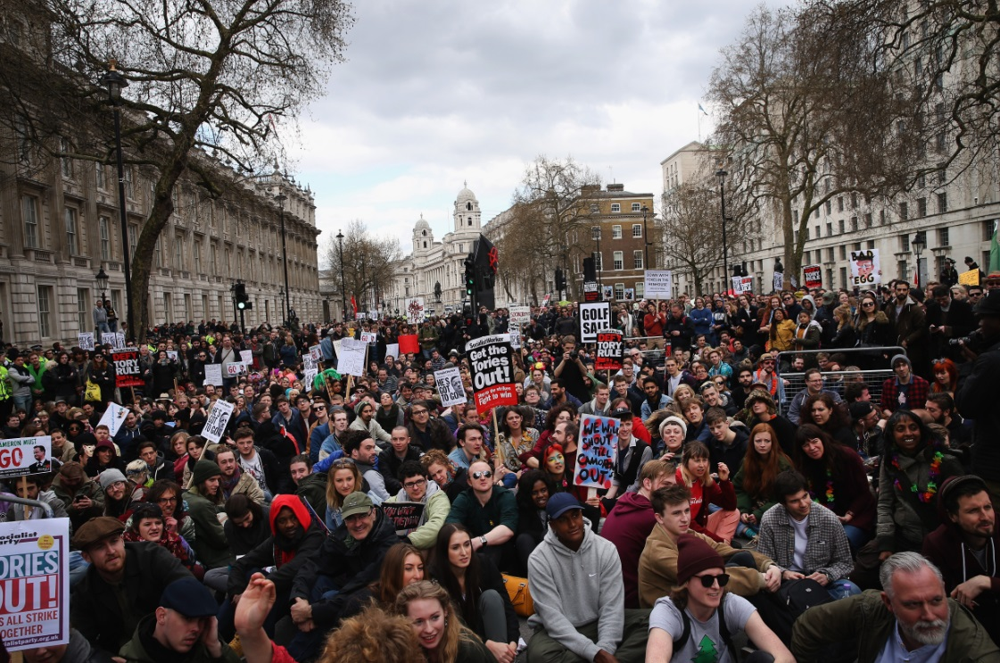 Anti-Cameron protest on 9 April