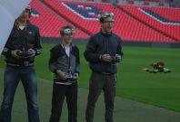 FPV drone racing at Wembley stadium