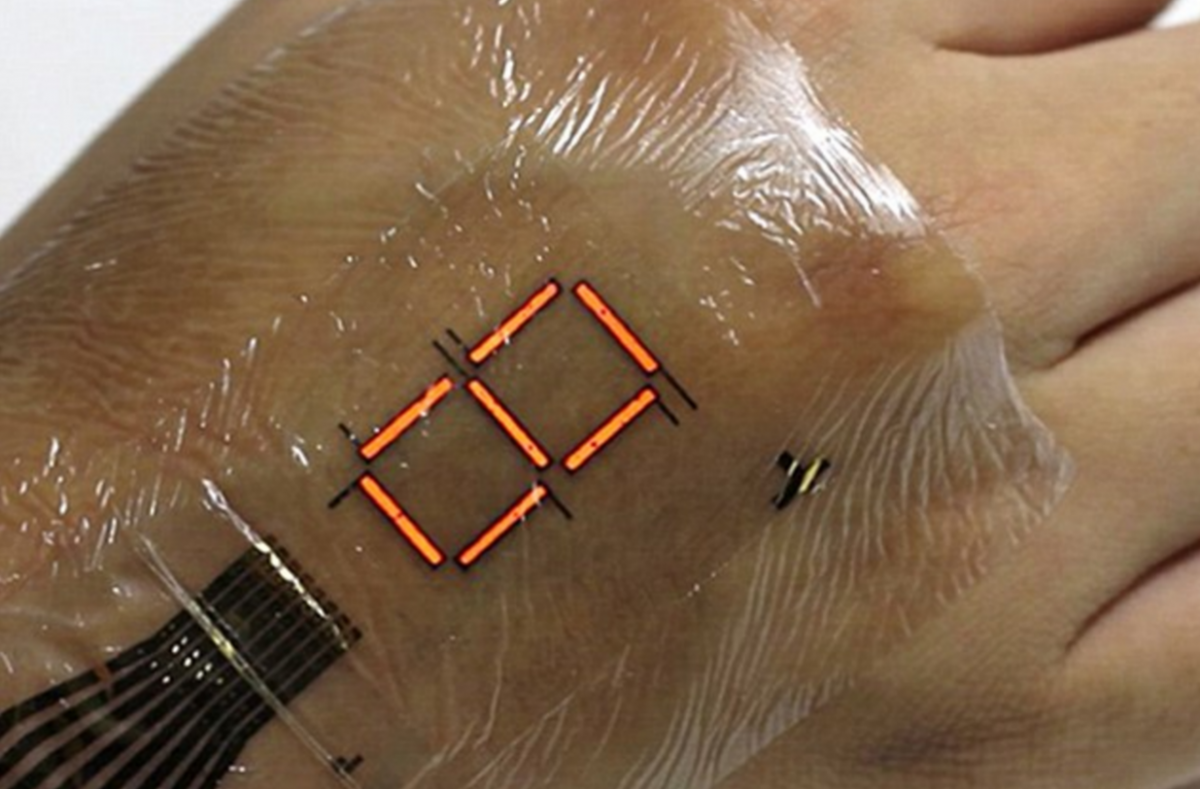 Ultra thin skin that reads oxygen levels
