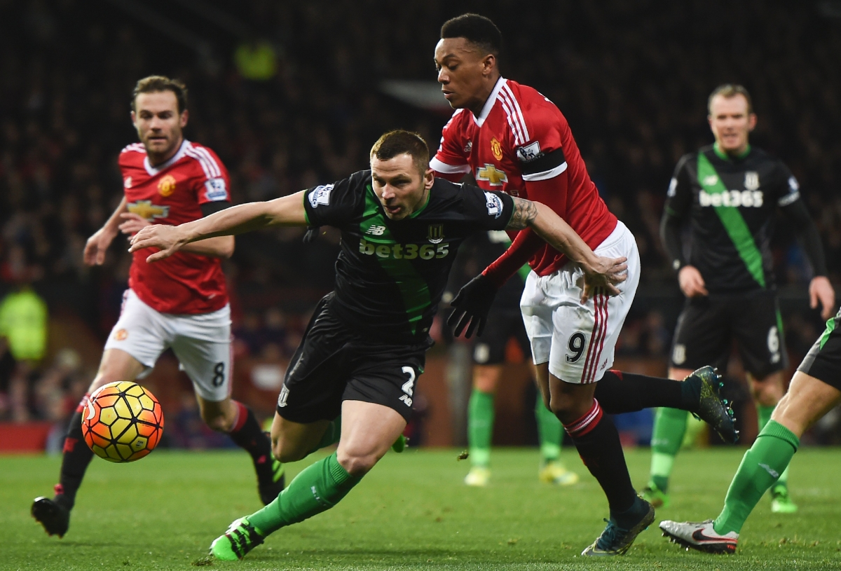 Phil Bardsley in action against United