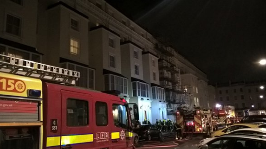 Hotel fire at a hotel in Bayswater