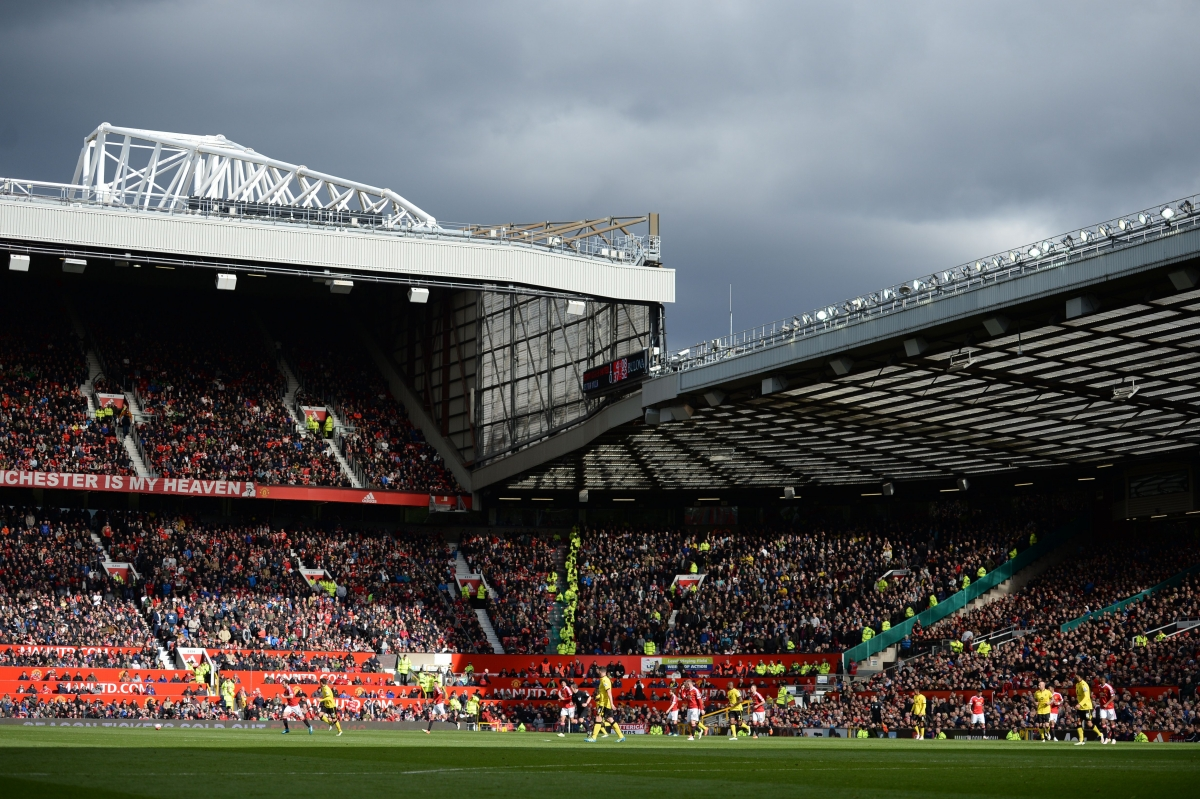 The scene at Old Trafford