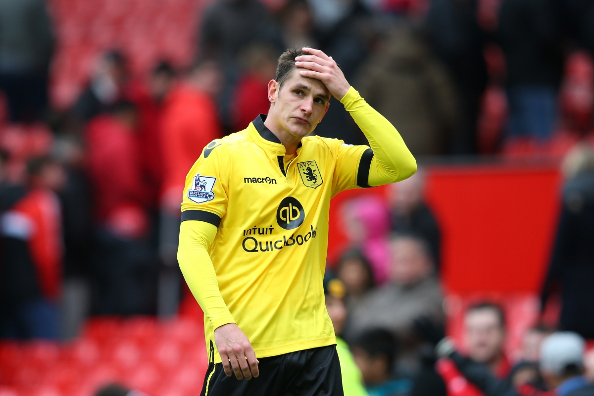Ashley Westwood looks dejected after the game