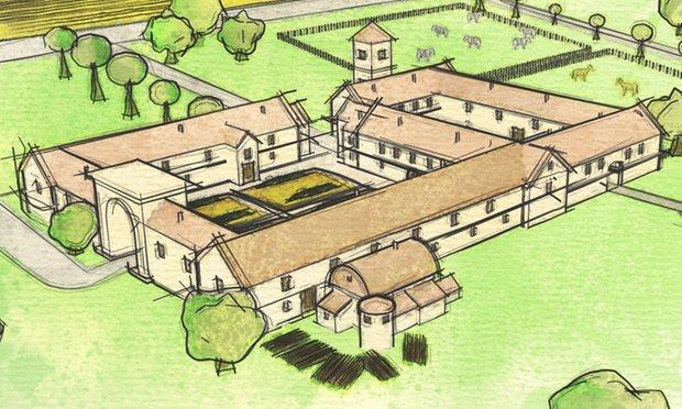 Roman villa in Wiltshire