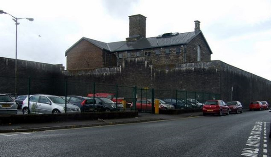 Three Prisoners Get Onto The Roof Of Swansea Prison
