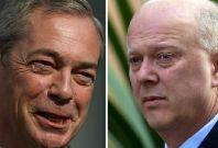 Nigel Farage and Chris Grayling