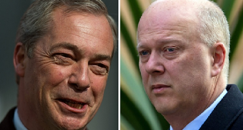 Nigel Farage and Chris Grayling
