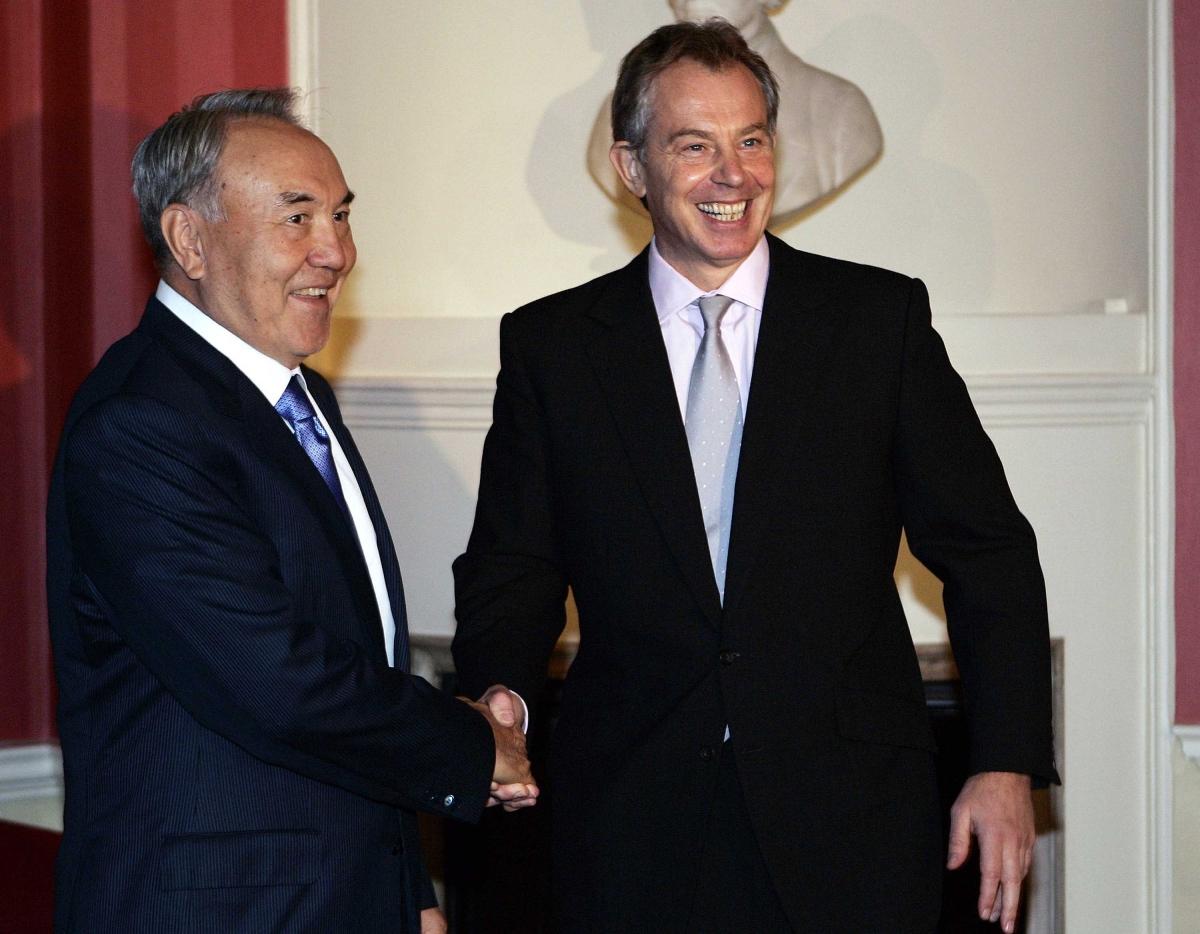 Blair and Nazarbayev